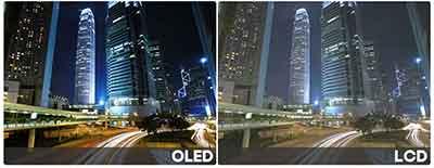 شکل- تلویزیون OLED اولد - روشنایی و کنتراست در تلویزیون اولد
