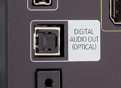 شکل- انواع ورودی تلویزیون -خروجی صوتی دیجیتال
