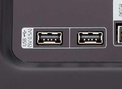 شکل- انواع ورودی تلویزیون-پورتهای یواسبی USB