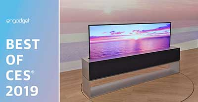 بهترین محصولات CES 2019 - بهترین تلویزیون  LG OLED TV R