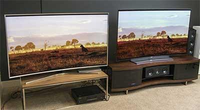 شکل- تفاوت تلویزیون OLED با LED